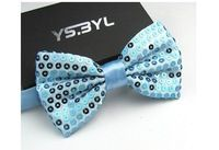 Fashion school uniform silk bow tie light blue mens wedding butterfly brand new high quality gravatas masculinas cravat 13*6.5cm