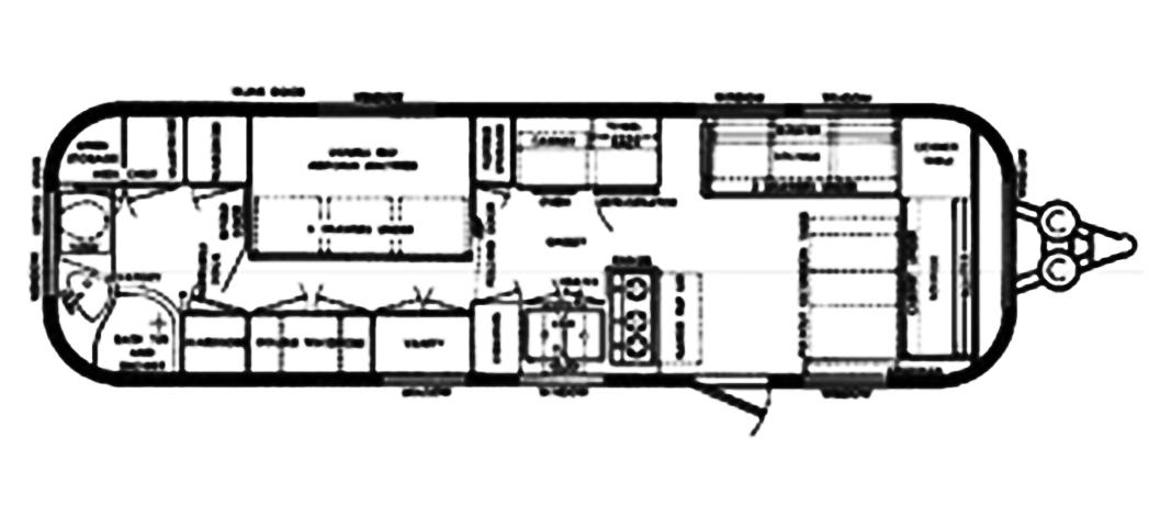 The Vintage Airstream Sovereign Travel Trailer Floor Plan
