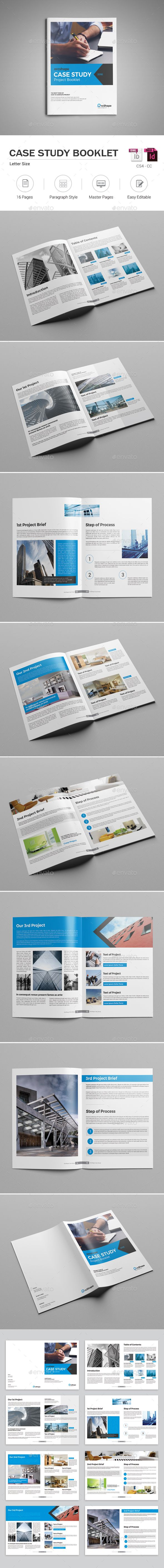 Case Study Booklet | Booklet template, Template and Brochures