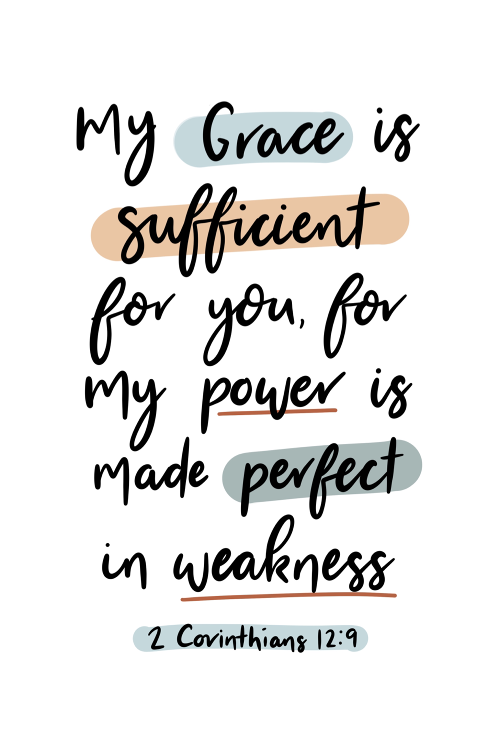 My grace is sufficient for you for my power is made perfect in weakness -   19 beauty Quotes bible ideas