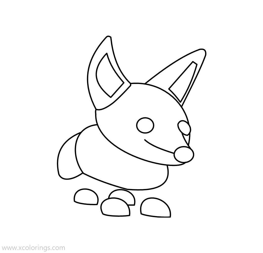 Roblox Adopt Me Coloring Pages Fennec Fox Coloring Pages Cute Food Drawings Adoption