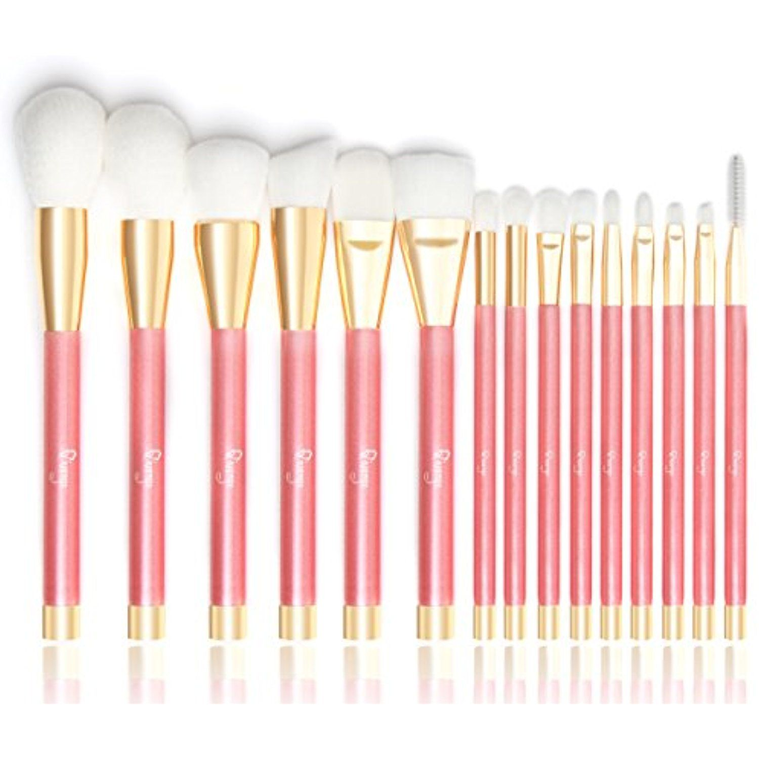 Qivange Makeup Brush Set, Vegan Powder Contour Eyeshadow