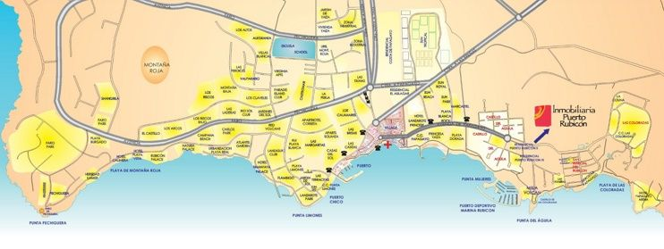 Playa Blanca hotel map Maps Pinterest Spain and City
