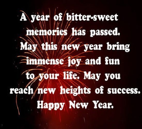 happy new year wish for family and friends