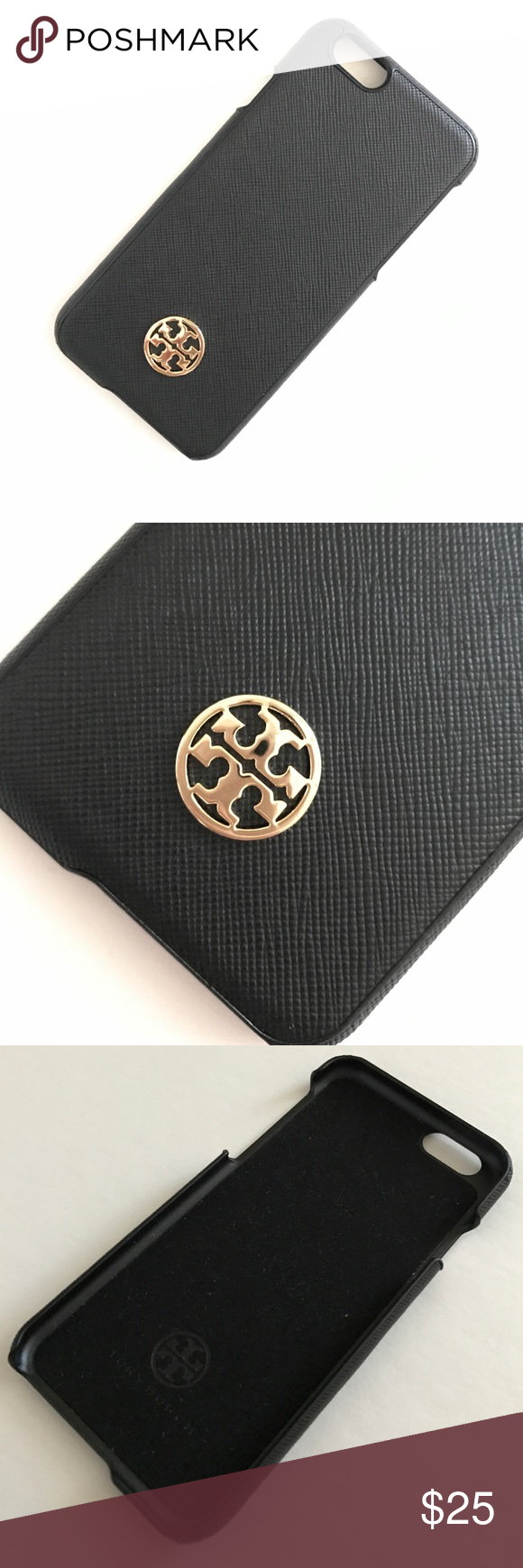 Tory Burch Robinson Saffiano Leather iPhone 6 case Like new! Only used less than one week. Hard case with fuzzy inside to protect the phone. Chic case! Wish I could use it but it does not fit my phone anymore. Tory Burch Accessories Phone Cases