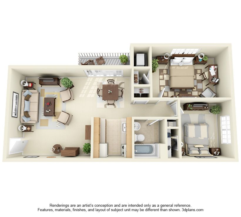 Two Bedroom One Bath 748 Sq Ft Sims House Design House Layouts Sims House