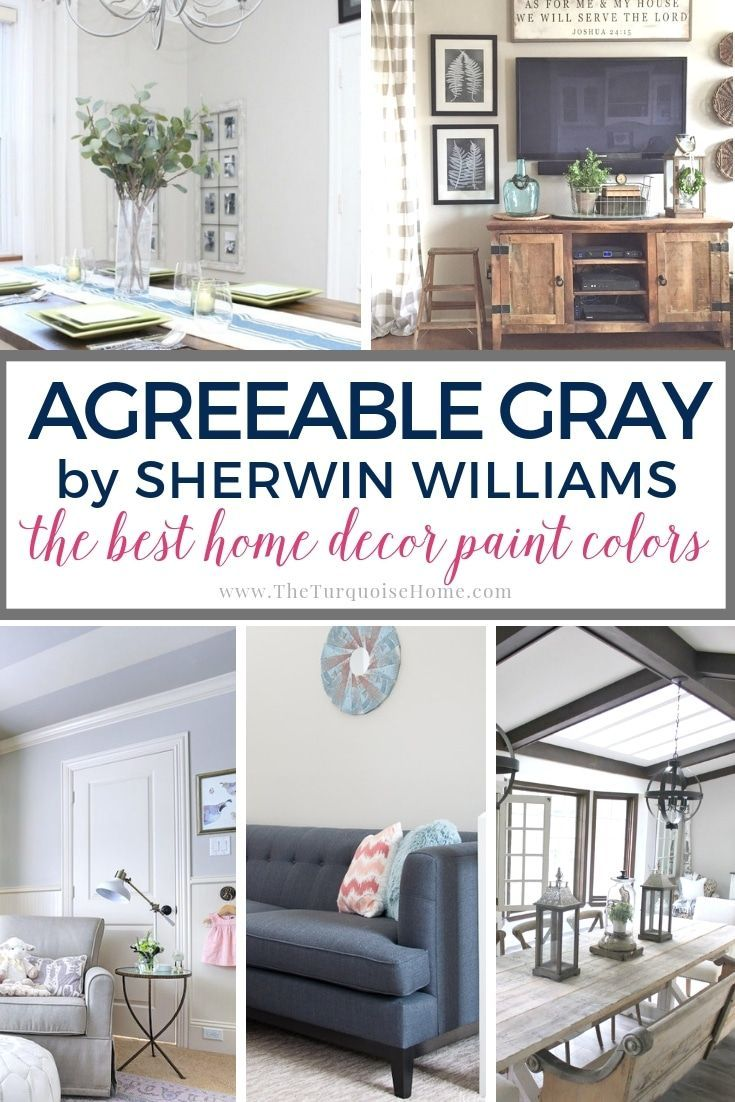 Best Home Decor Paint Colors: Agreeable Gray | The Turquoise Home