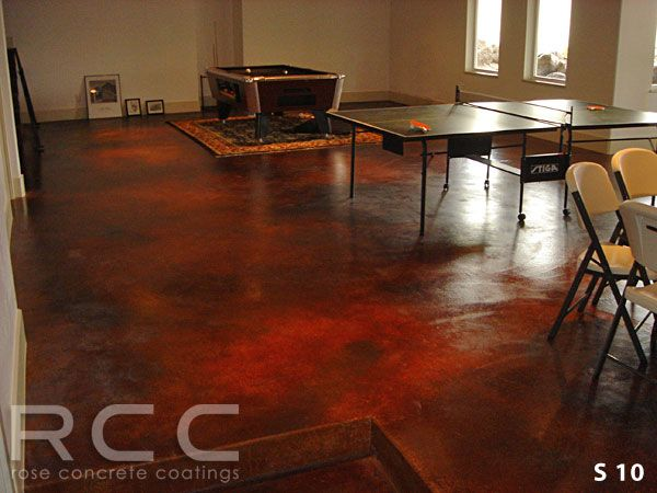 Red Stain Concrete Floor Staining