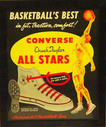 f55c6d26ccf 1950 s Converse Advertising Broadside for Hi-Top Sneakers - Amazing ...