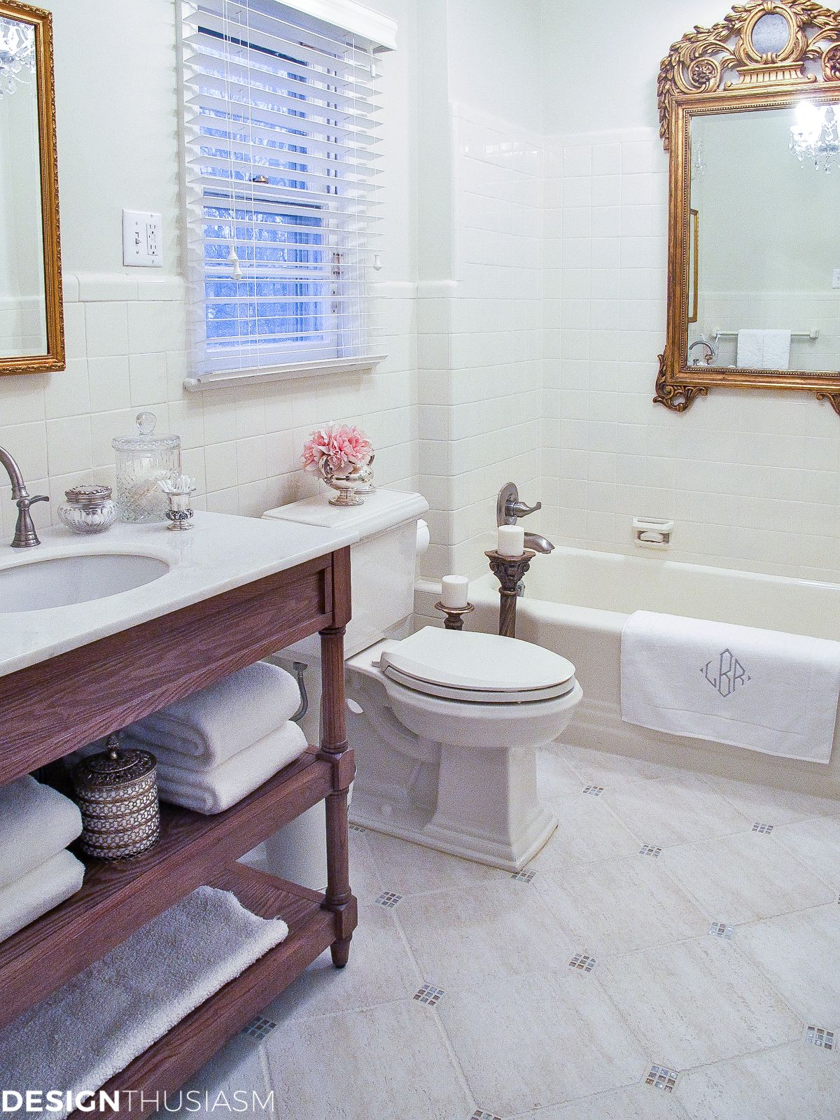 Bathroom Ideas On A Budget Creamy White Painted Tile