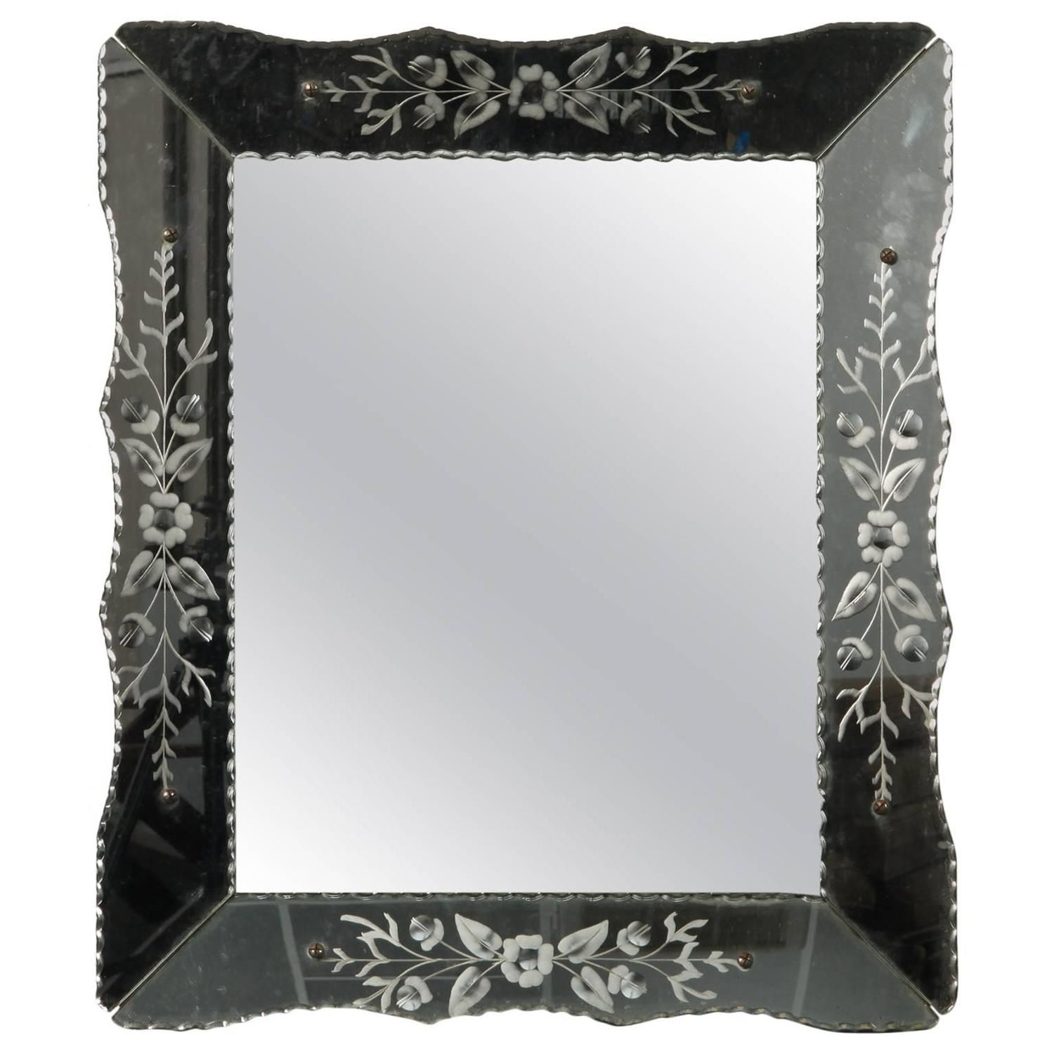 Art Deco Era Venetian Mirror - From A Unique Collection