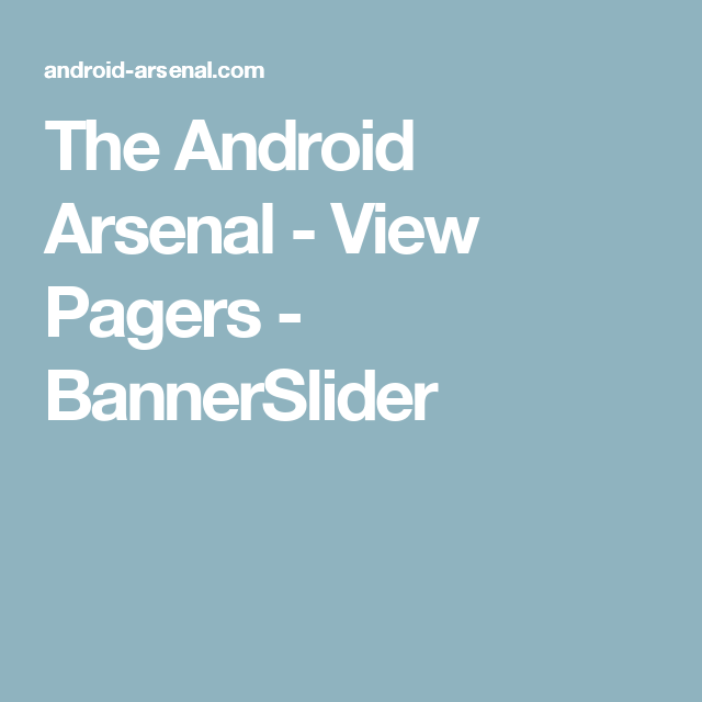 The Android Arsenal - View Pagers - BannerSlider | Android