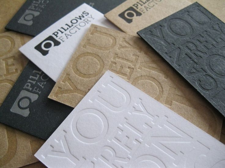 Letterpress cards for Pillows Factory.  Macho papers from the collection of #Igepa — www.igepa.be