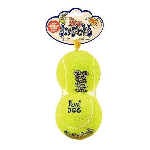 Kong Airdog Squeakair Balls 2 Pack Finn S Pet Supplies Squeaker