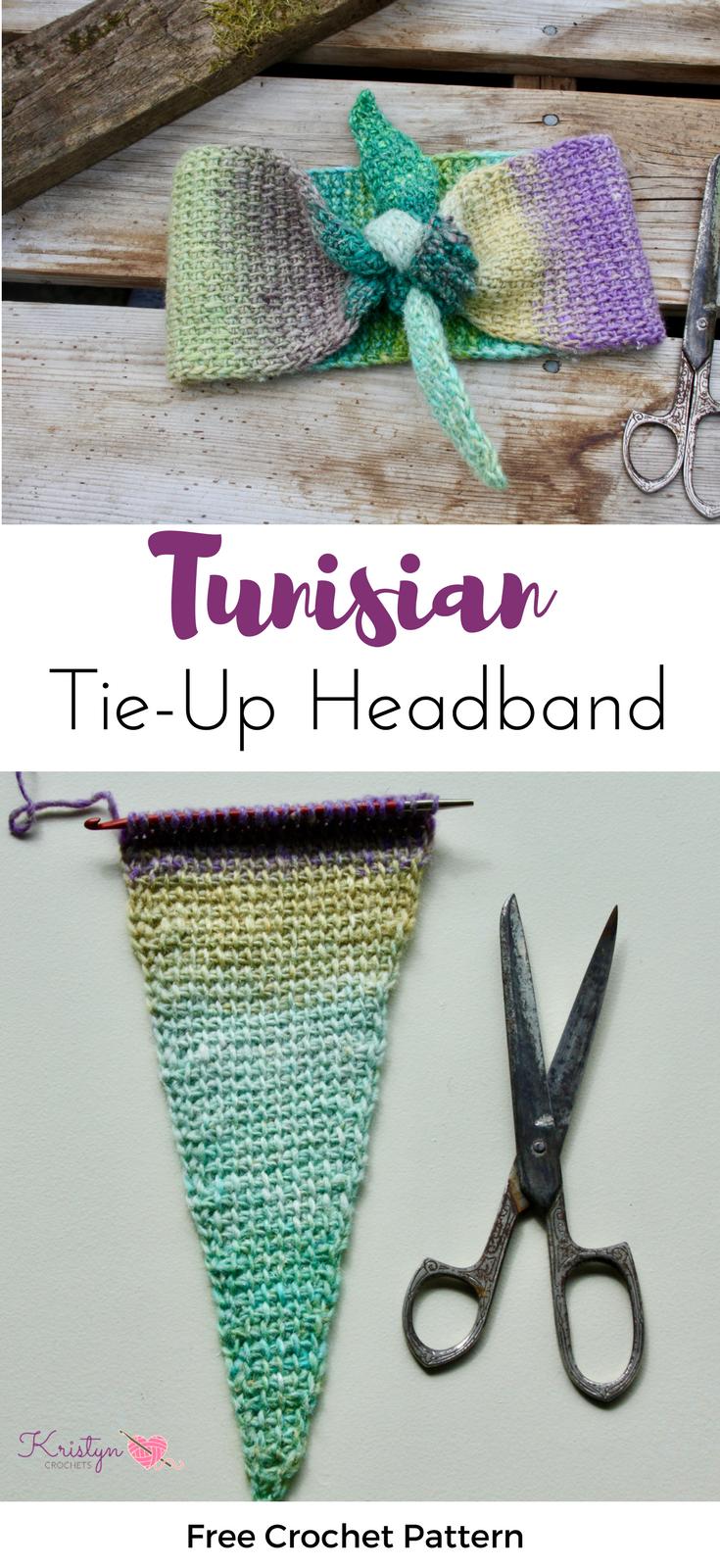 Tunisian Tie-Up Crochet Headband | hip hip hurray crochet ...