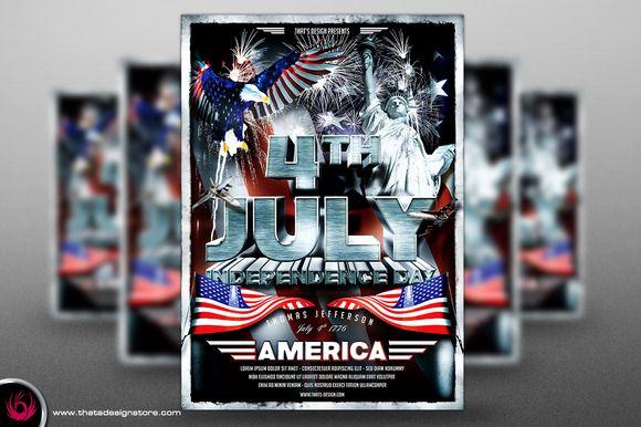 Independence Day Flyer Template @creativework247 4th Of July