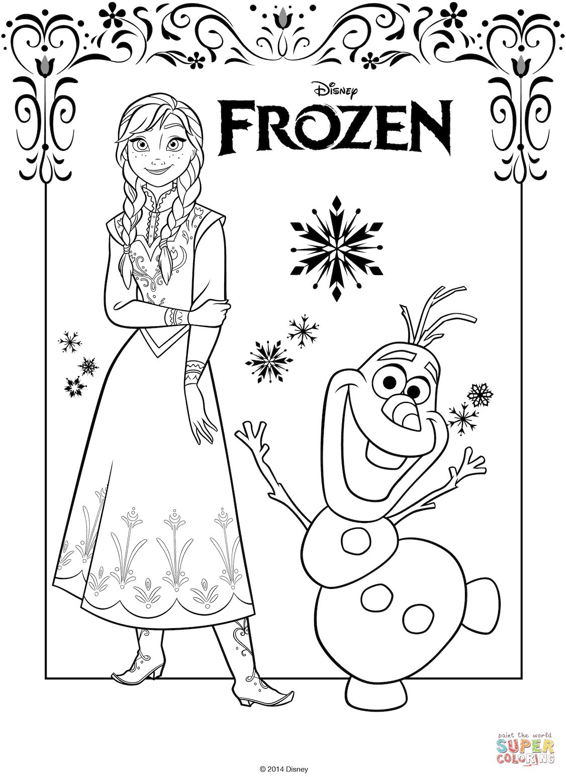 anna coloring pages the frozen coloring pages free
