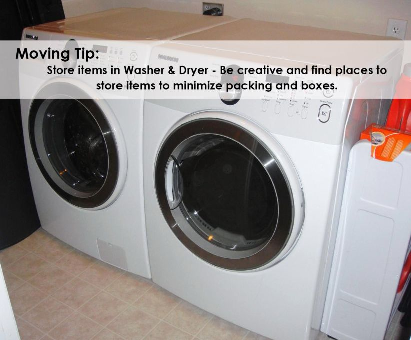 Moving Tip Use dryers for putting items for packing