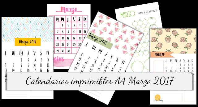 calendarios, imprimibles, A4, organizador, mensual, imprimir, pdf ...