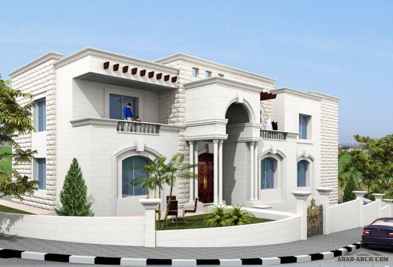 تصميم فيلا عمان الاردن 3 طوابق مسطح البناء 650 متر مربع من اعمال التصميم المعماري التصميم الإنشائي إدارة المشاريع الإشراف الهندسي House Styles House Design