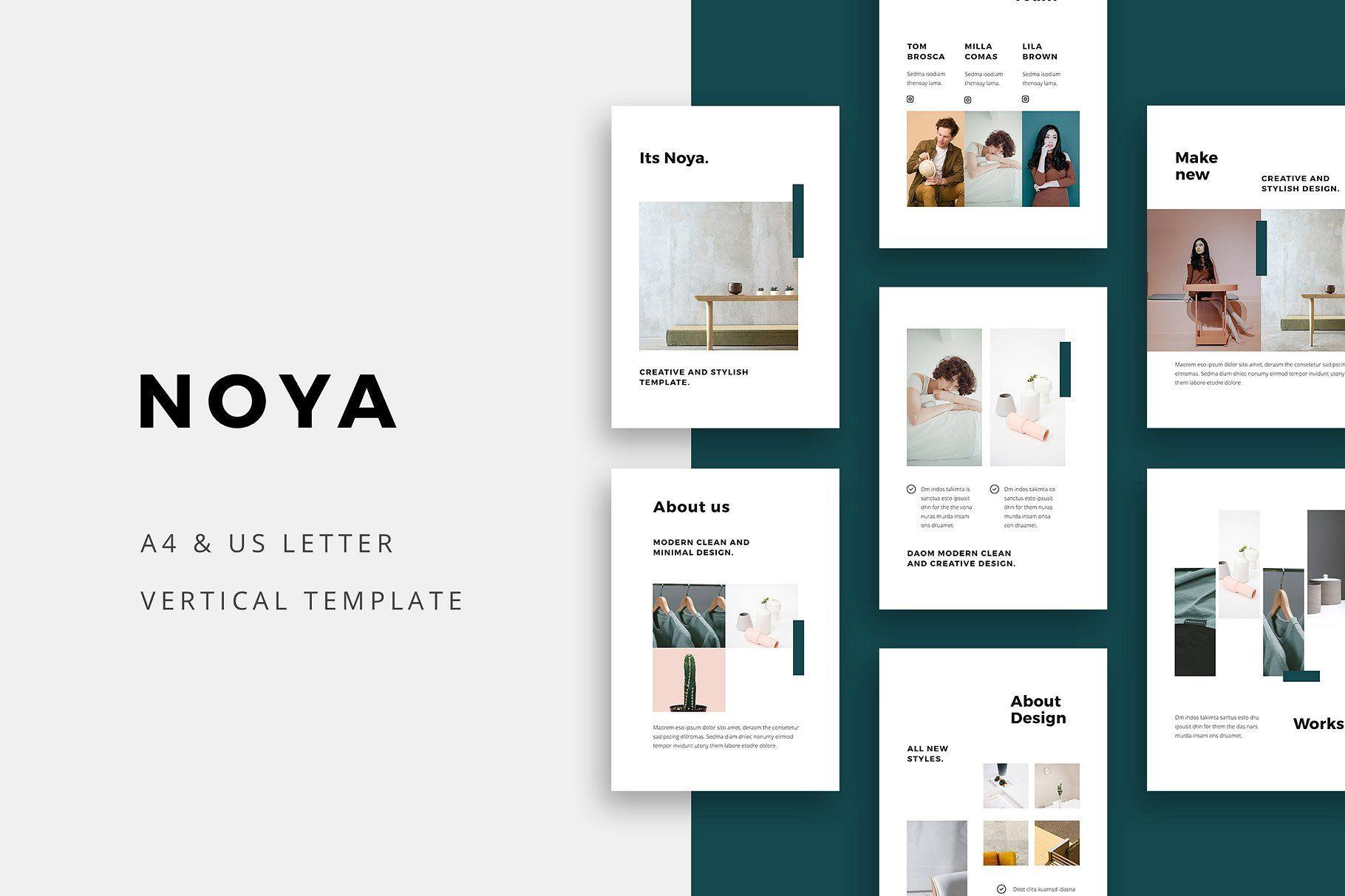 NOYA Vertical Powerpoint Template 템플릿, 사이트 디자인