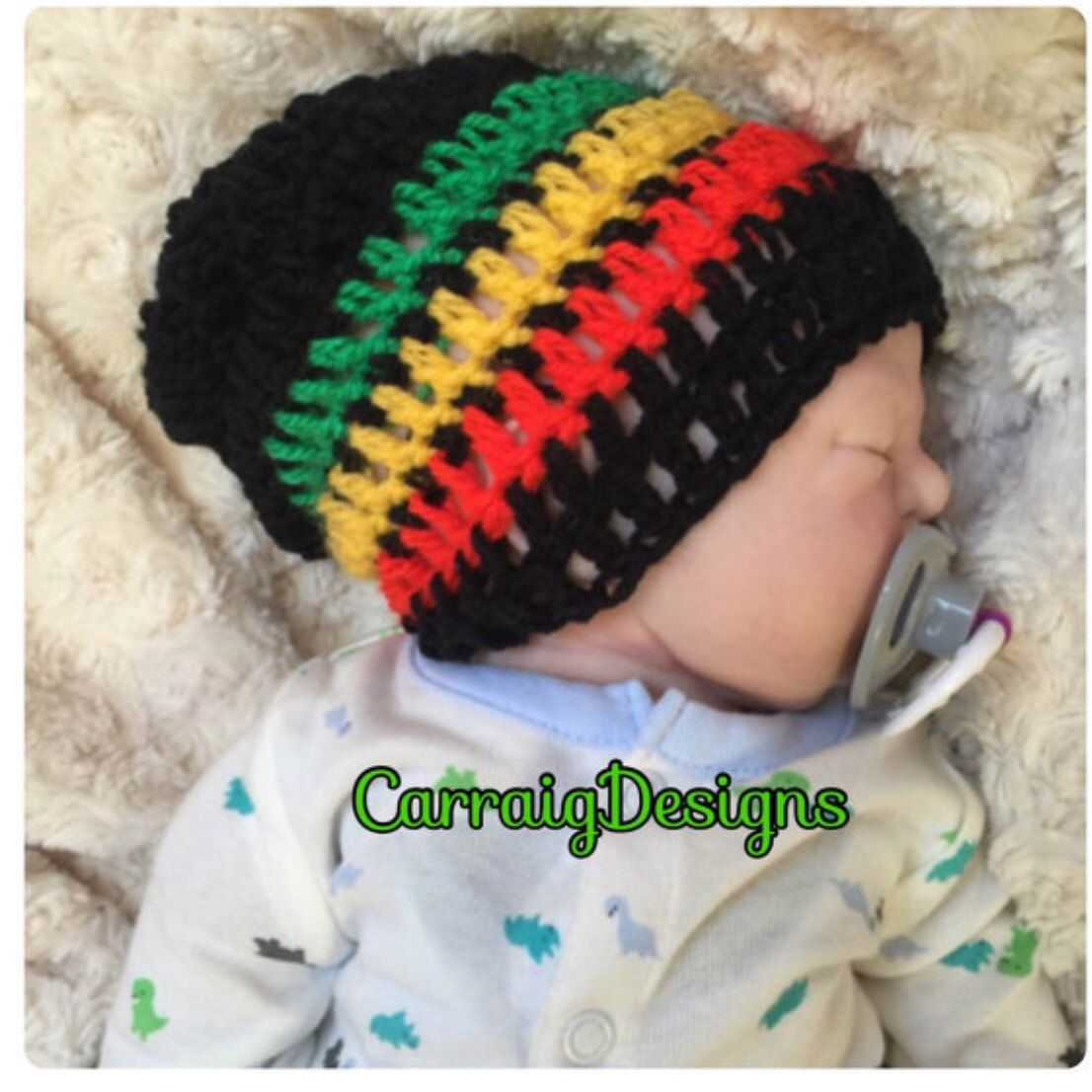Baby Boy Girl Crochet Knitted Costume hat//beanie Multi Colour Raimbow 0-6mths
