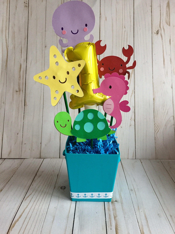 Under The Sea Birthday Centerpiece Under The Sea Baby Shower