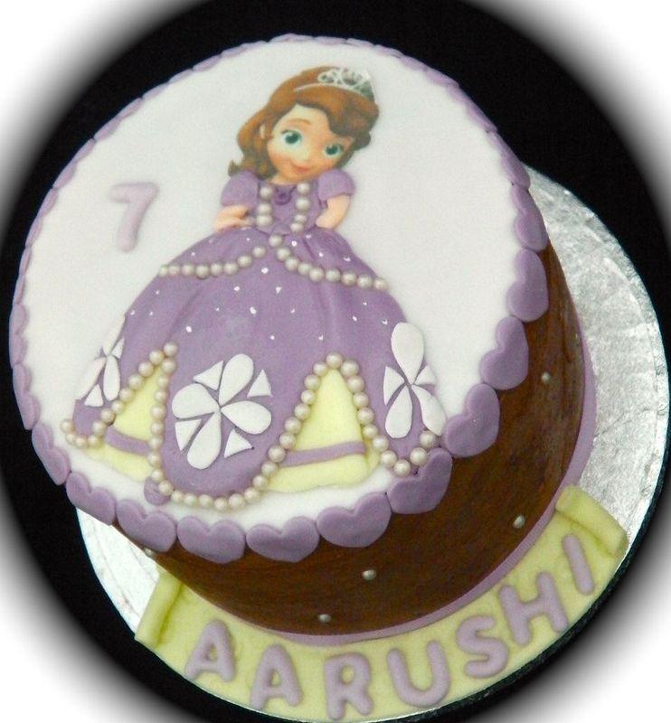Princess Sofia Birthday Celebration Cake