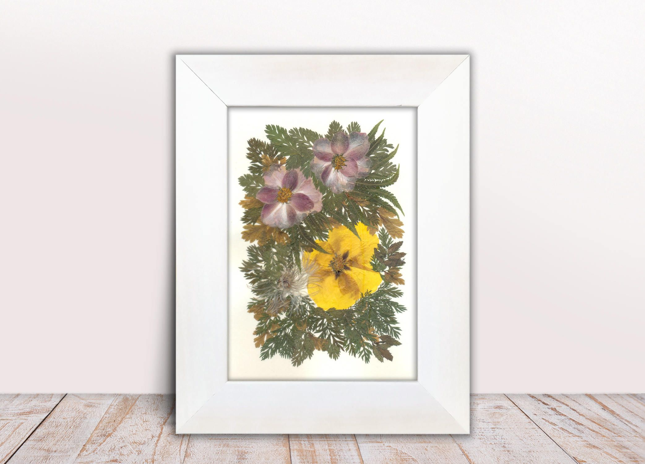 Pressed Flowers Pressed Flower Art Herbarium Rustic Art Kitchen Art ...