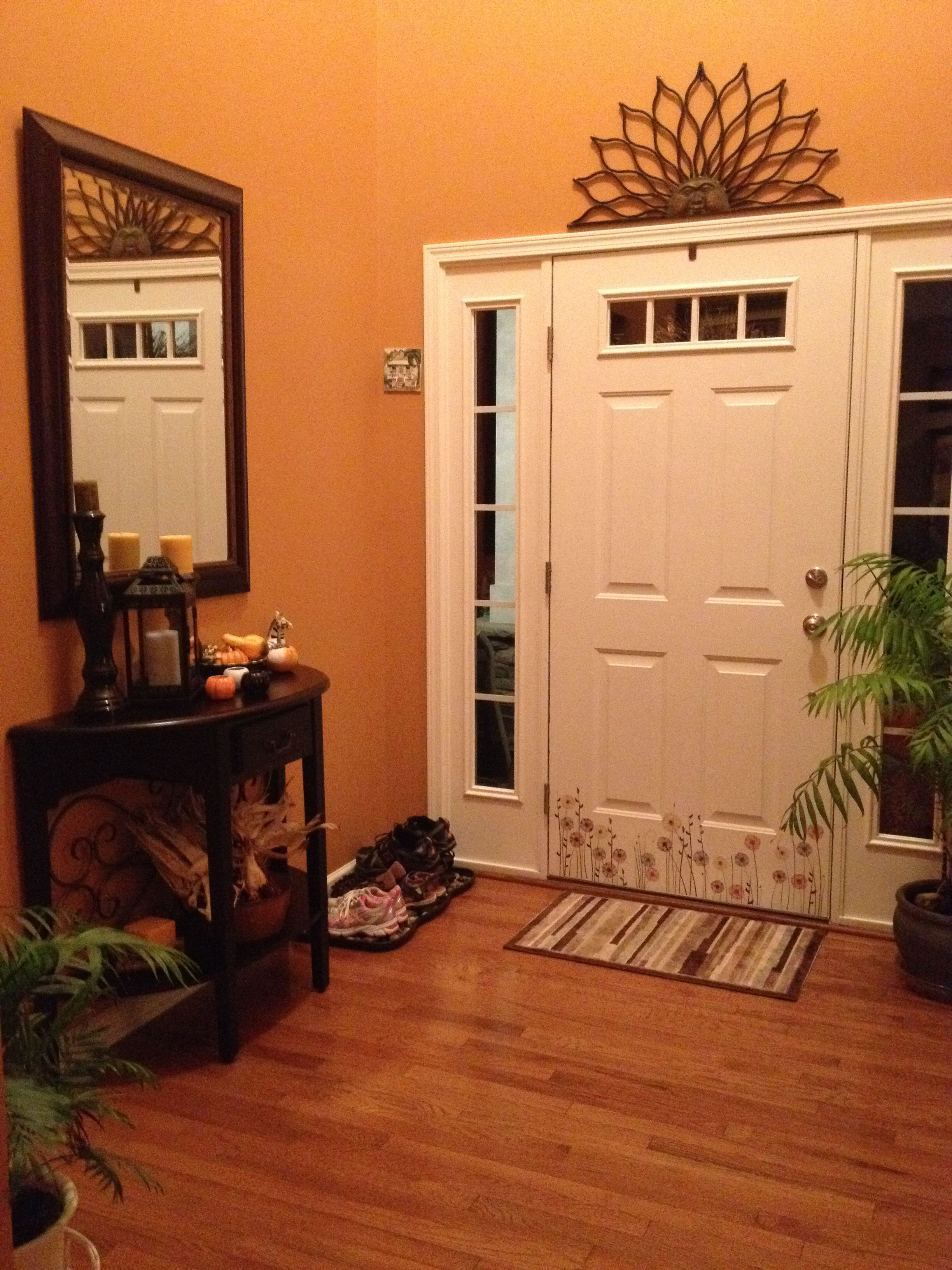 Entryway In Autumnal By Sherwin Williams Kitchen Color