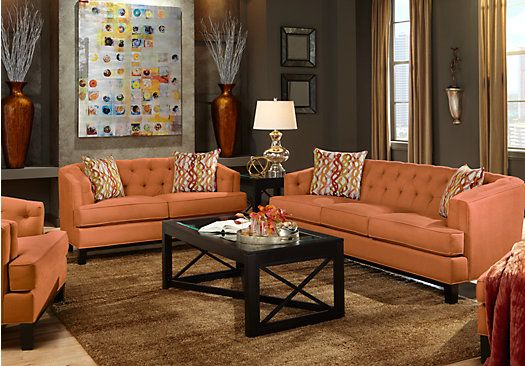 Shop for a chicago clay 7 pc living room at rooms to go for Find living room furniture