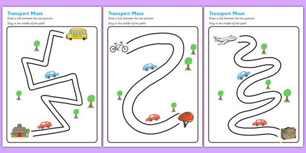 Fine Motor Control Worksheets : Have to subscribe for this transport pencil control path