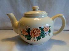CREMA DE LA VENDIMIA olla de té con las rosas rosadas -Taiwán