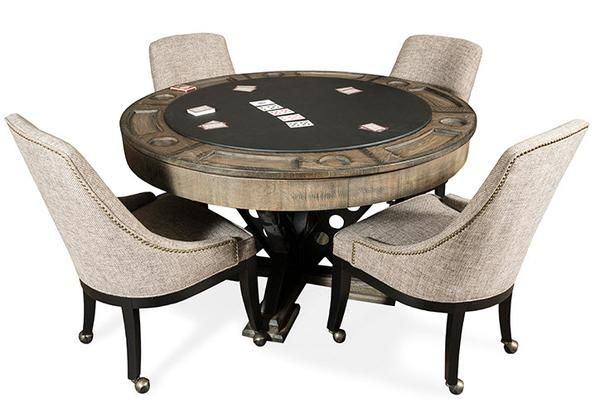Table And Chairs, Round Gaming Table With Chairs