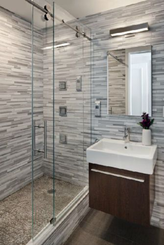 5ft Frameless Sliding Glass Shower Door Track Barn Shower