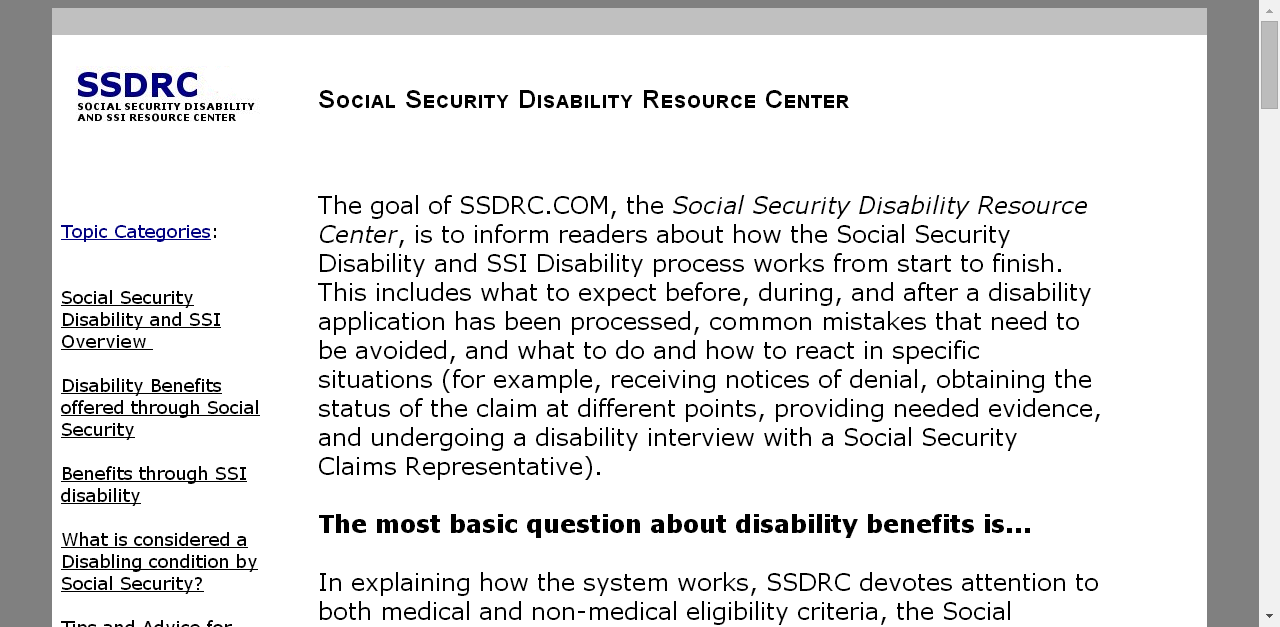 SOCIAL SECURITY DISABILITY RESOURCE CENTER - HOW TO APPLY AND
