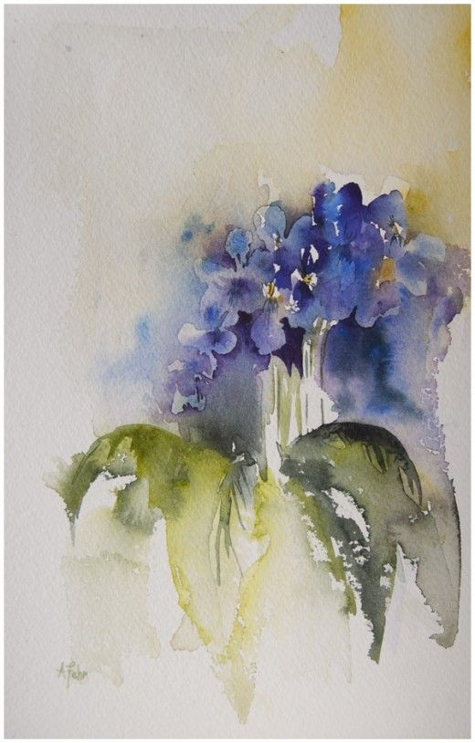 Violets of My Affections | Angela Fehr watercolours