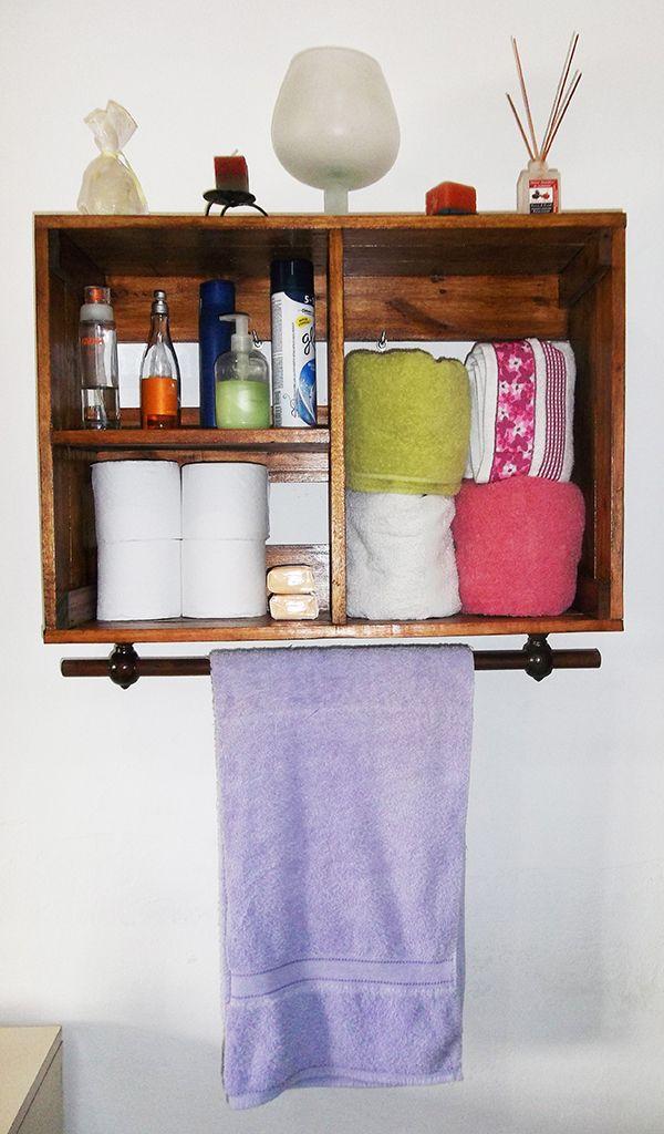 Estanter a para ba o turpial hecha con palets reciclados - Palets muebles reciclados ...