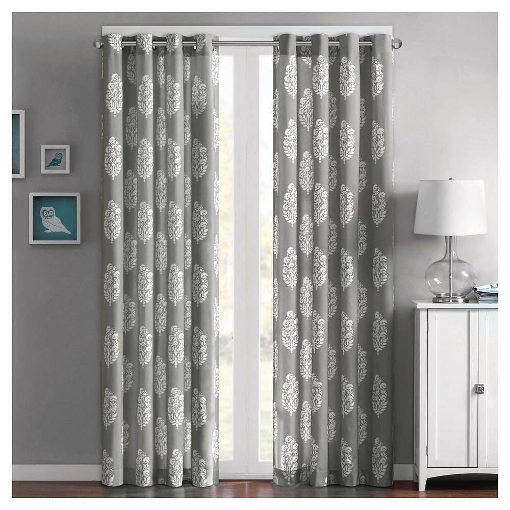 Naira cotton printed curtain panel yellow
