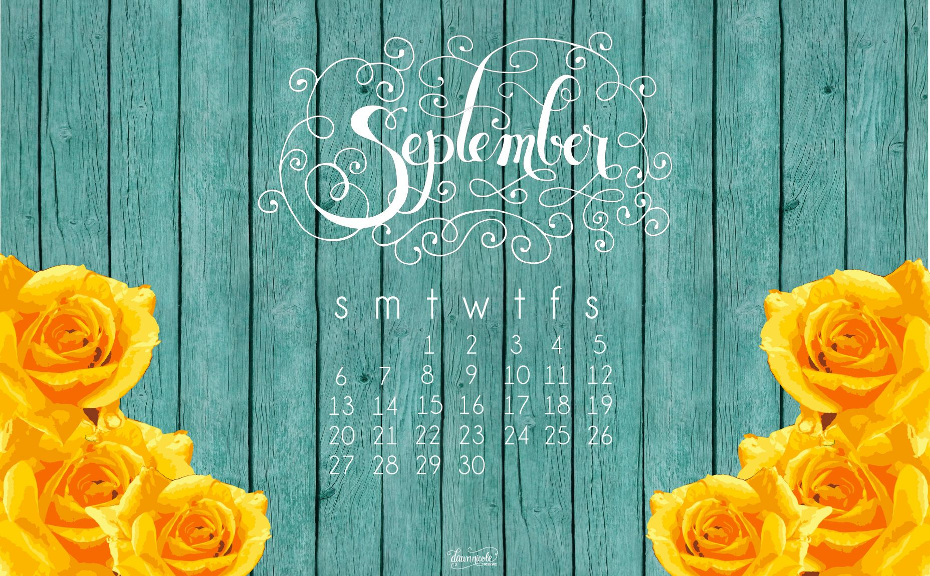 Beautiful Sept Calendar Desktop 1,856×1,151 Pixels