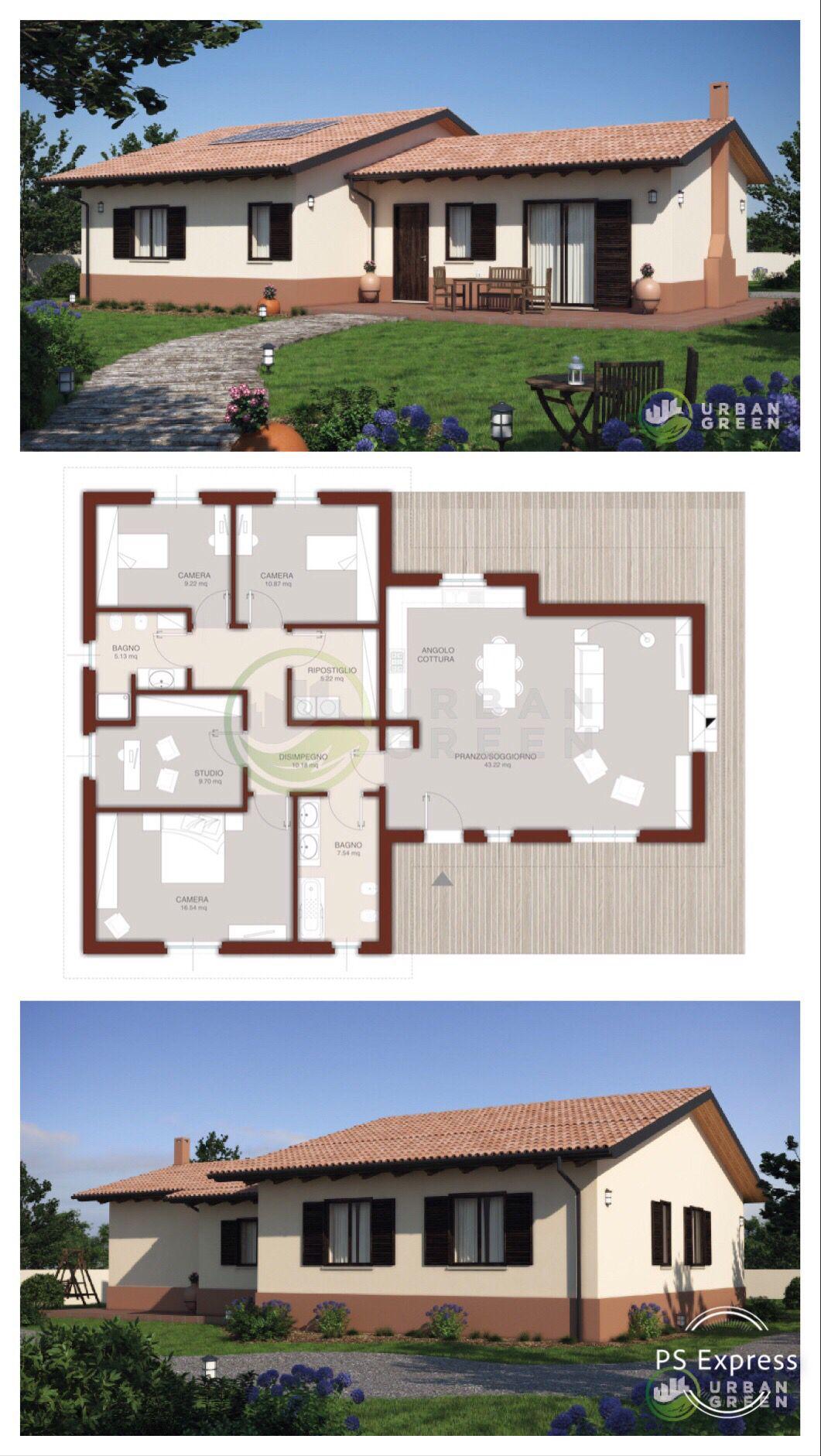 progetto e planimetria casa prefabbricata in legno urban