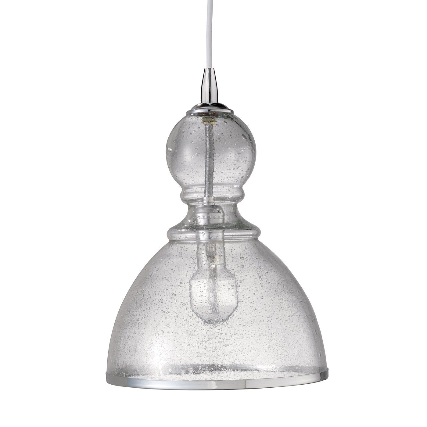 Shop jamie young 5stch lgcl large clear glass st charles mini jamie young lighting pendant saint charles seeded glass clear large i think this is a better shape for over a table but too small in diameter i like the aloadofball Image collections