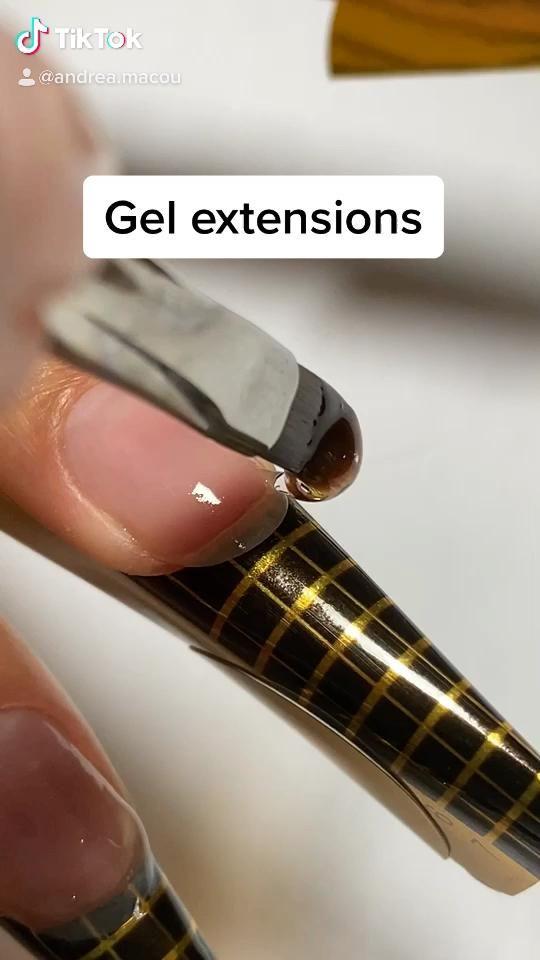 Sculpted gel extensions tutorial