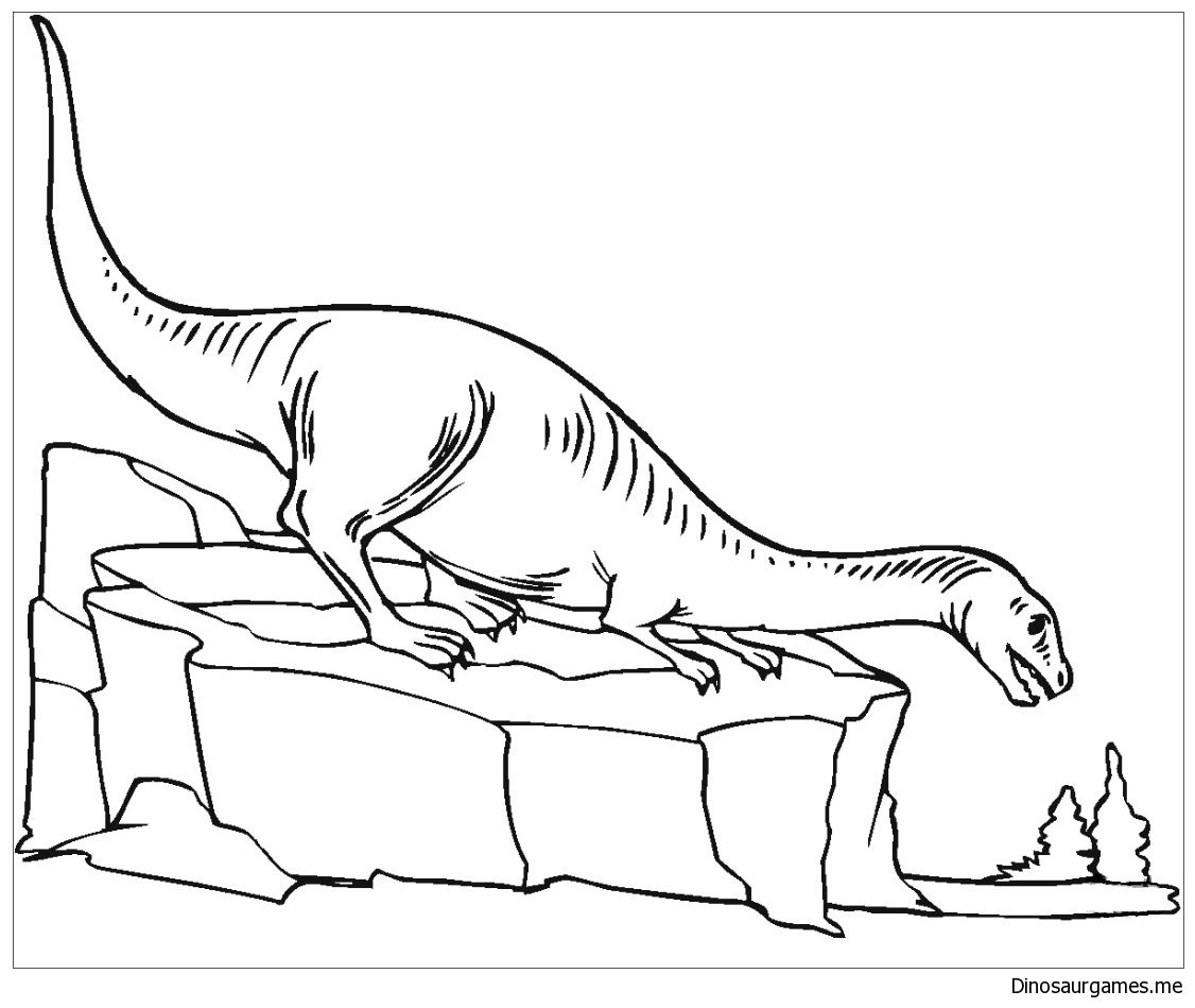 Plateosaurus 3 Coloring Page Color Online Or Print Out For Free