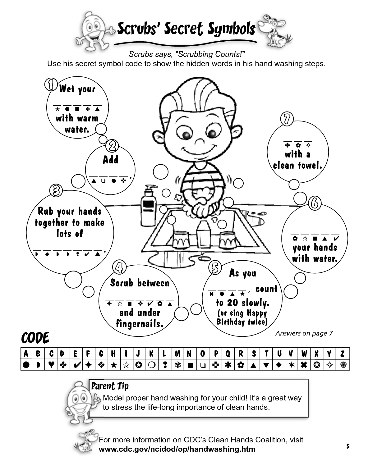 Clover Kids Germ Activity Sheets Yahoo Image Search Results Color Activities Germs For Kids Coloring Pages