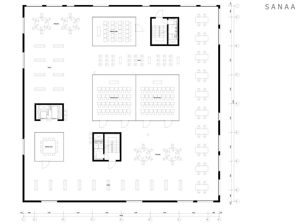 Sanaa zollverein school of management and design essen for Innenraumdesign studium