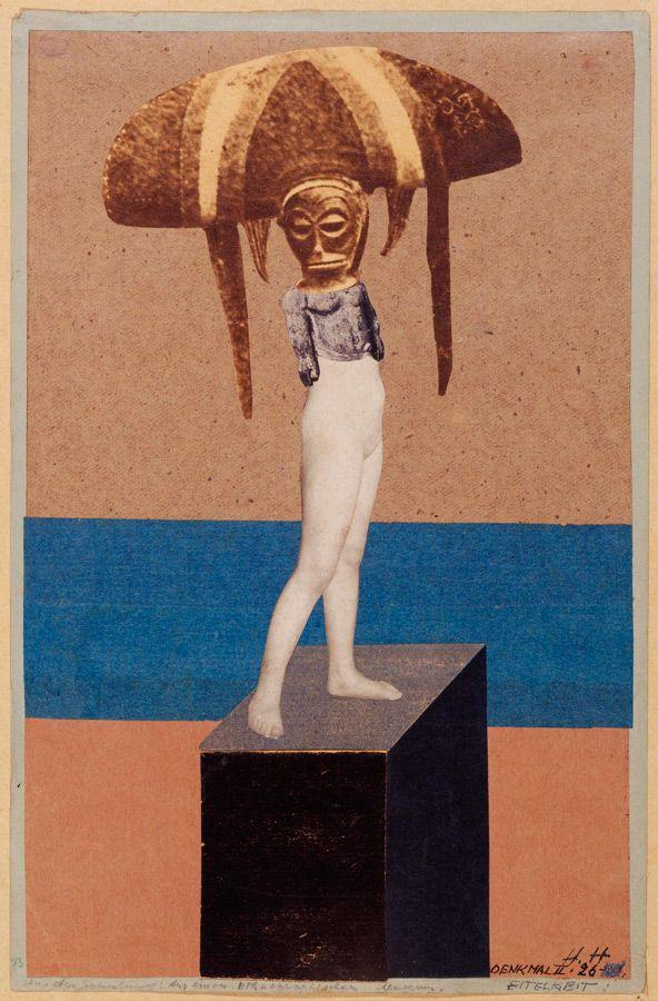 Hannah Höch (allemande 1889 - 1978) Monument II: Vanity (Du musée ethnographique) (Denkmal II: Eitelkeit (Aus einem ethnographischen Museum)) 1926