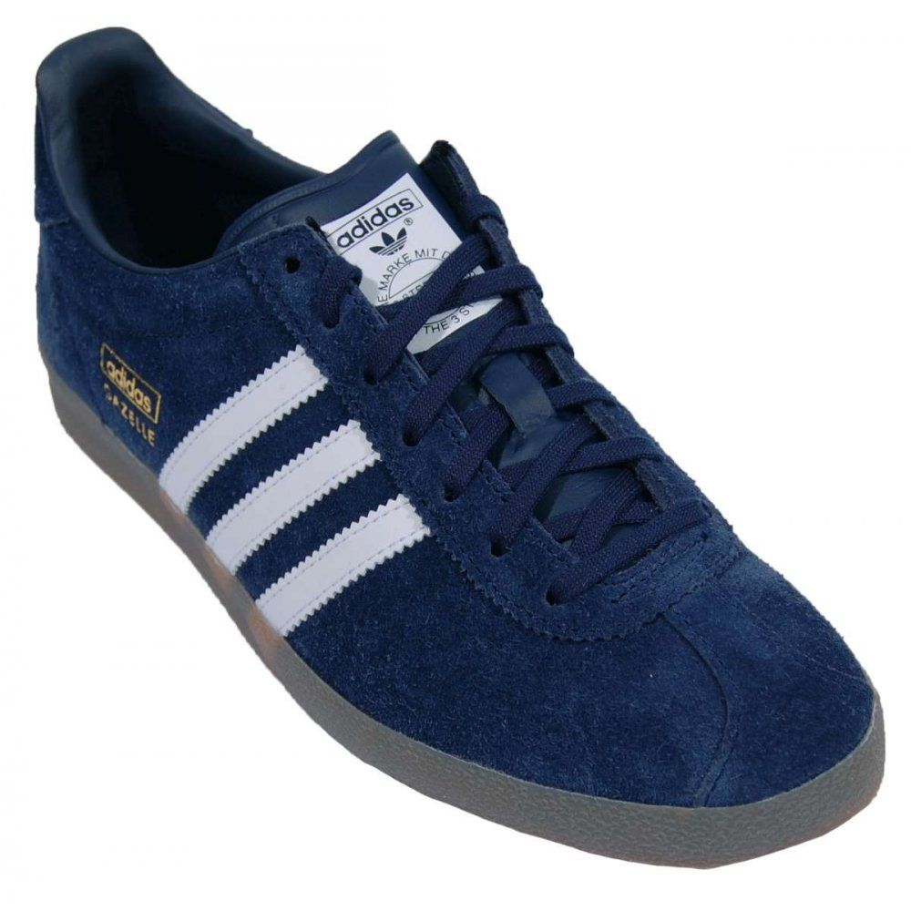 adidas gazelle og blue white mens trainers