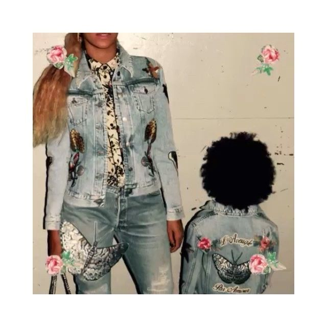 c3020584e Dressed in custom #Gucci patched denim jackets by #AlessandroMichele, @ beyonce and her daughter #BlueIvy. #blindforlove #lemonade #beyonce