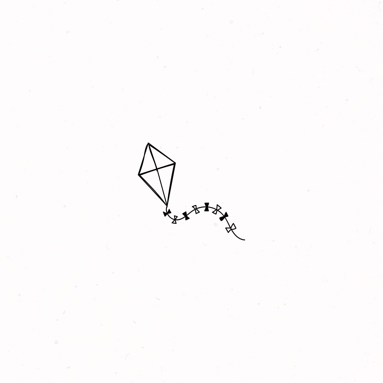 Kite Illustration Doodle Drawing Design Logos Premade Logo Digital